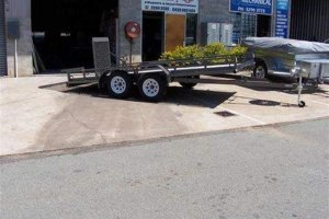 Tilt Bed Car Trailer
